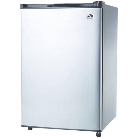 :  RCA RFR321-FR320/8 IGLOO Mini Refrigerator, 3.2 Cu Ft Fridge, Stainless Steel