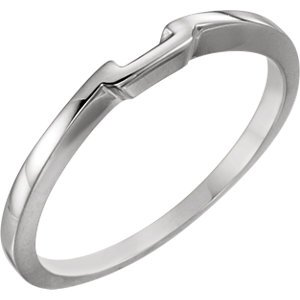 Jambs Jewelry Platinum Band for 5.5 mm Solitaire Mounting ()