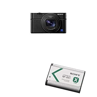 "Sony DSCRX100M6/B 20.1 Digital Camera with 3.0"" LCD, Black with NP-BX1 X-Series Rechargeable Battery Pack (B07K8N3JSY) 