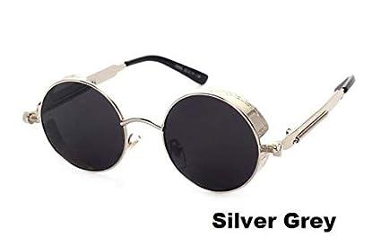 a4a2f0ac7 Image Unavailable. Image not available for. Colour: Hectare Buy Silver  Grey: J39 Espelhos Rosa Steampunk Do Vintage Retro Rodada Oacuteculos De Sol