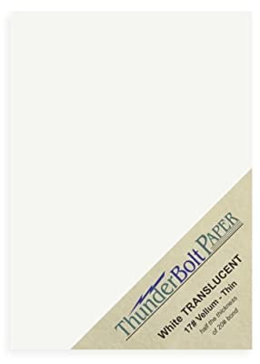 "50 Soft Off-White Translucent 17# Thin Sheets - 5"" X 7"" (5X7 Inches) Photo