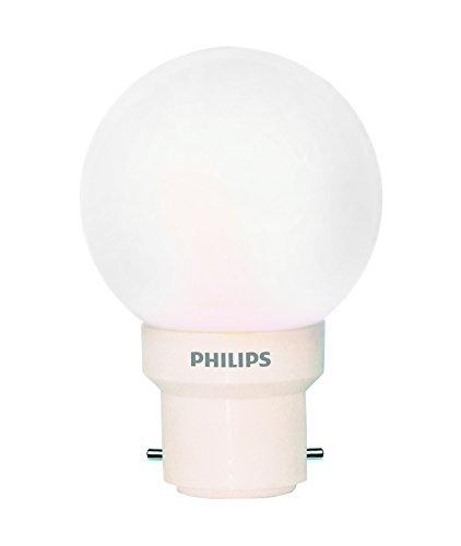 PHILIPS 0.5W B22 LED White Bulb, (Deco Mini)