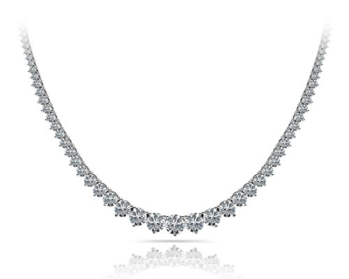 11.00 ct Ladies Graduated Round Cut Diamond Necklace