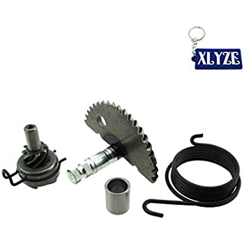 Qii lu Kick Start Gear Assembly, Aluminum Kick Start Shaft Idler Gear Assembly Set for GY6 50CC 80CC 139QMB Scooter Moped