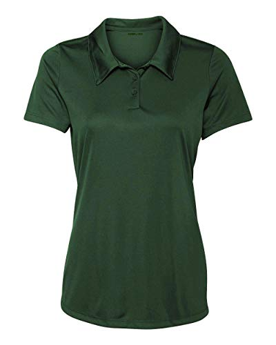 - Animal Den Women's Dry-Fit Golf Polo Shirts 3-Button Golf Polo's in 20 Colors XS-3XL Shirt FOREST-3XL