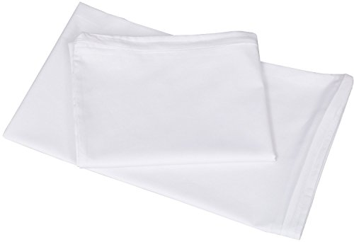Queen Cotton Zippered Pillow Cases - 20 by 30 Inches - White - Pack of 2 - by Utopia Bedding