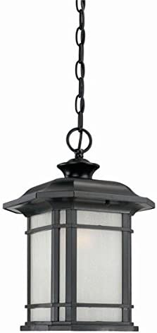 Acclaim 8116BK Somerset Collection 1-Light Outdoor Light Fixture Hanging Lantern, Matte Black