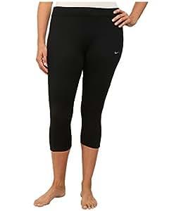 Nike Womens Dri-FIT? Essential Running Crop (Size 1X-3X) Black/Black/Black/Reflective Silver Pants 3X X 18.5