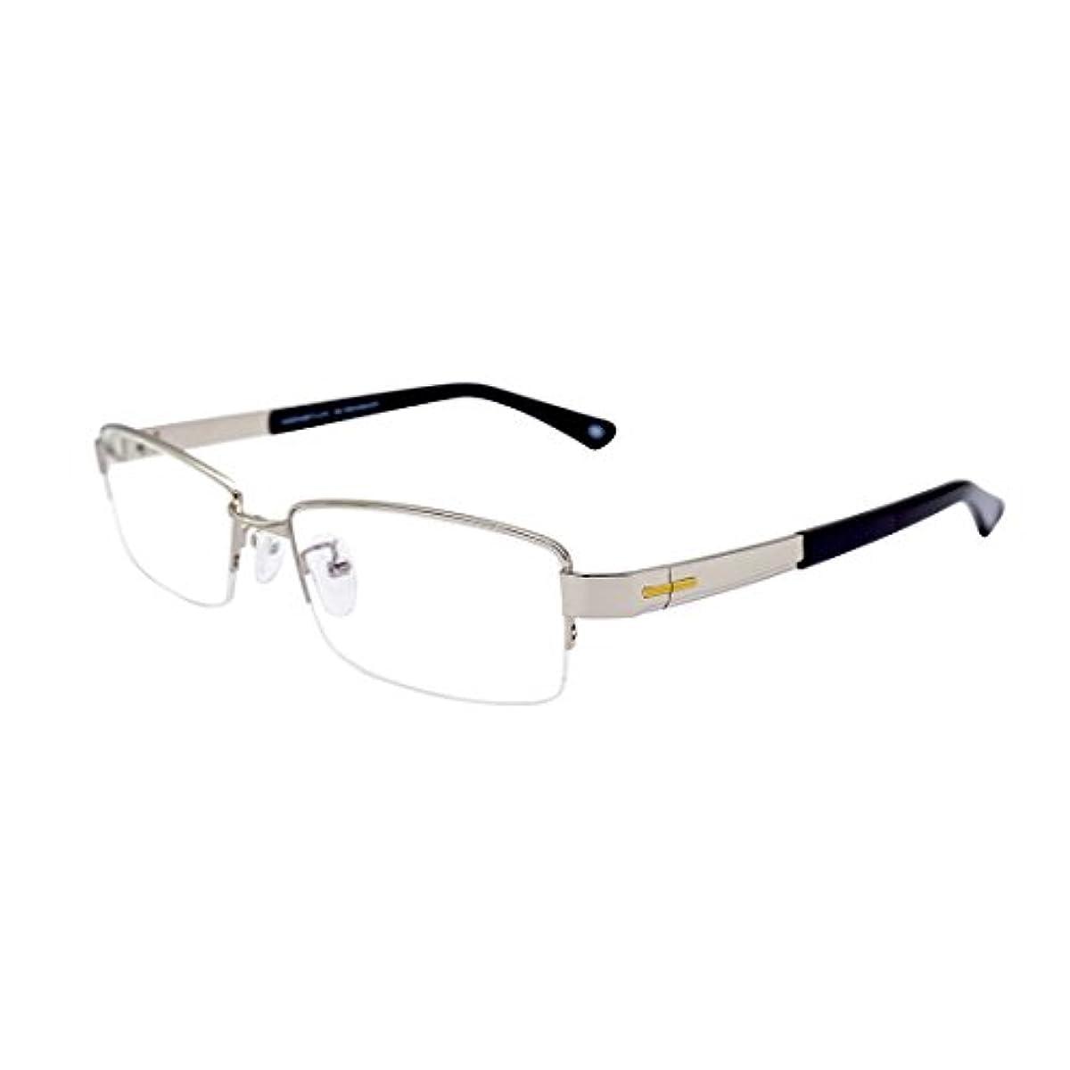 [해외] 다테 남성 안경 맨즈 안경 프레임 메탈 프레임 금속제 레져 안경 닦아 대응 케이스 첨부 와 …