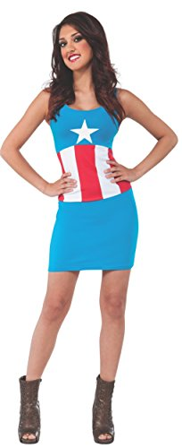 Rubie's Costume Women's Marvel Universe Adult American Dream Tank Dress, Multi, Small (X Men Costumes Women)