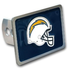 - Siskiyou San Diego Chargers NFL Trailer Hitch Cover SIS-FTH040SL