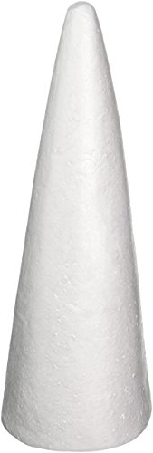 Darice 01261P 1-Piece Dura Foam Cone for Craftwork, 15-Inch -
