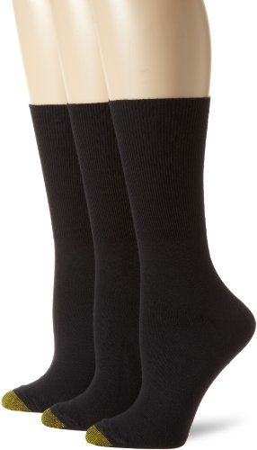 Gold Toe Womens Anklets (Gold Toe Women's Plus-Size 3 Pair Pack Anklet Socks, Black, One Size)