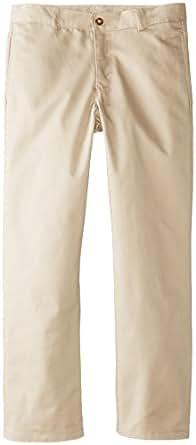 KHQ Big Boys' Husky Flat Front Twill Pant, Khaki, 10