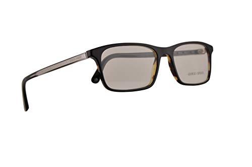 Giorgio Armani AR7145 Eyeglasses 55-17-145 Top Black Havana w/Demo Clear Lens 5622 AR 7145