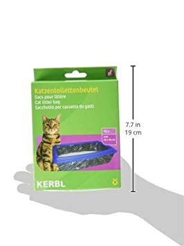 Kerbl Bolsas para arenero XL hasta 59 x 46 cm, envase de 10 uds.: Amazon.es: Productos para mascotas