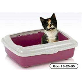 Goa 1s Small Cat Pan With Rim 14x10x3.5 By BND