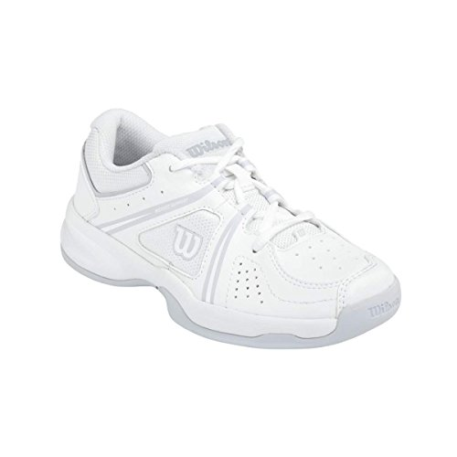 Wilson ENVY JR, Unisex-Kinder Tennisschuhe, Mehrfarbig (WHITE/WHITE/PEARL GRAY WILSON), 38 1/3 EU (5 Kinder UK)