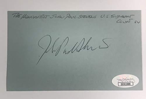Supreme Court Justice John Paul Stevens Autographed 3x5 Index Card