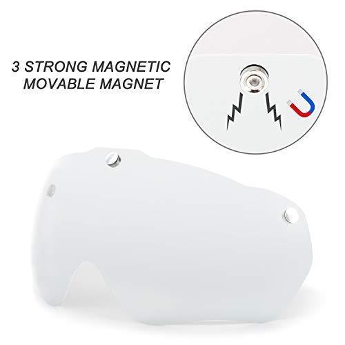 Basecamp Bike Helmet Visor Shield Magnetic Goggles Cycling Helmet in Model 001 (Visor Clear)
