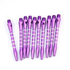 True Fire 10 Piece Re-Grooved Purple Medium Aluminum Dart Shafts - Purple Aluminum Shafts