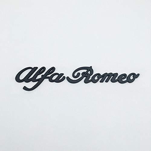 Black Metal 3D Alfa Romeo Letter Logo Rear Emblem Car Badge Side Sticker Decal