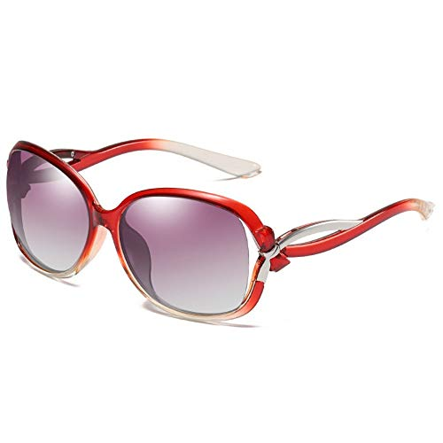 GZFENG Polarized Sunglasses Ms. Joker Classic Driving Sunglasses Wine Red