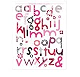 Ki Memories - Hip Chip Designer Chipboard Acents - Wild Thing - Letters