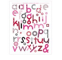 Ki Memories - Hip Chip Designer Chipboard Acents - Wild Thing - Letters by Ki Memories