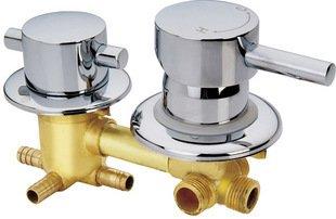 Rétro Deluxe Faucetinging F/S Cuivre salle de douche de mitigeur ...