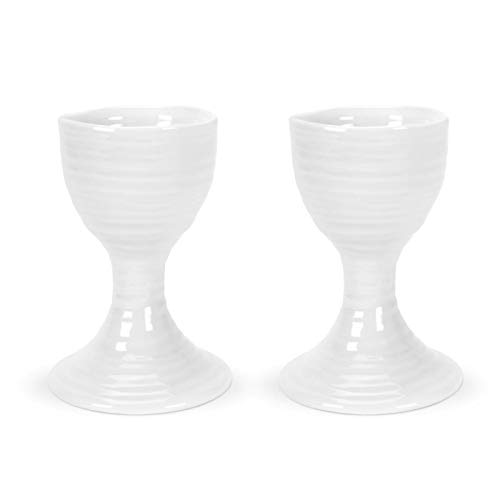 (Portmeirion Sophie Conran White Egg Cup Set of 2.)