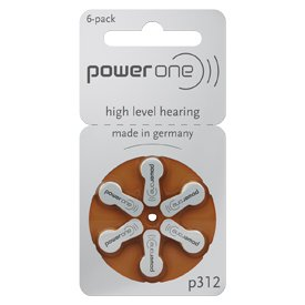 60 p312 Power One Hearing Aid Batteries includes FREE Hearing Aid Storage Pouch