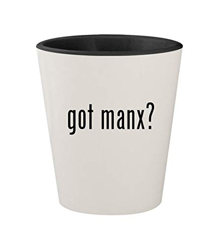 got manx? - Ceramic White Outer & Black Inner 1.5oz Shot Glass