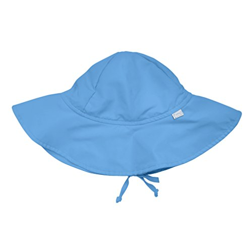 i play. Baby Brim Sun Protection Hat, Light Blue, 0-6 Months