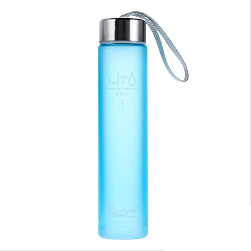 Blue Portable Bike Sports Travel Unbreakable Plastic Water Bottle Camping Cup 280Ml by Travel Mugs