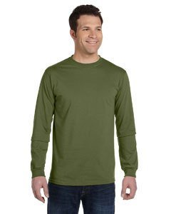 econscious 5.5 Oz., 100% Organic Cotton Classic Long-Sleeve T-Shirt (EC1500)- Olive,XX-Large ()