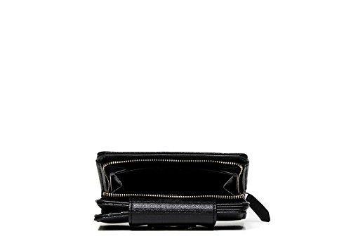 Mario Valentino portafoglio donna VPS1EY146 OPERA in ecopelle color nero con chiusura clip