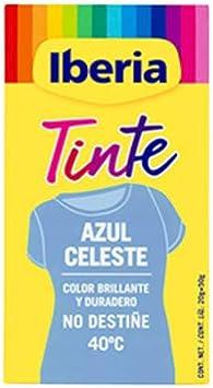 IBERIA TINTE TEXTIL AZUL CELESTE 70 gr: Amazon.es: Belleza