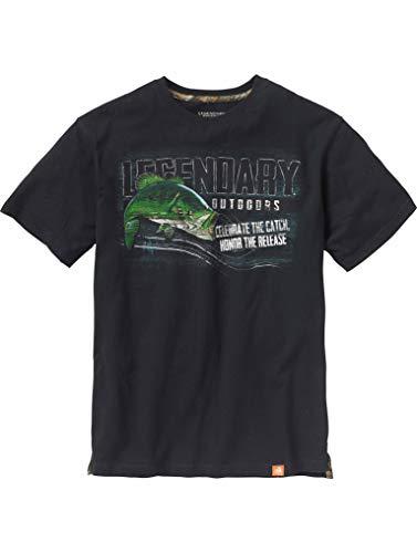 Men's Legendary Outdoors Bass T-Shirt Black X-Large ()