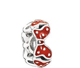Pandora Disney Minnie Bow Sterling Silver Spacer with Red Enamel 791582EN09