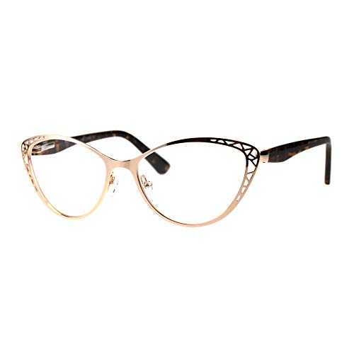 - Womens Reading Glasses Magnified Readers Cateye Spring Hinge Rose Gold +2.5