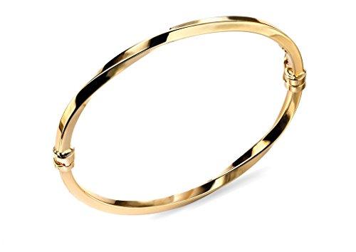 Elements 9ct or jaune or creux bracelet Charnière