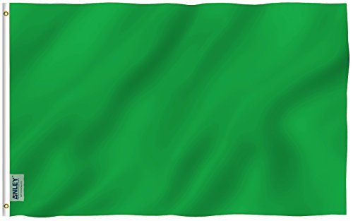 Anley Fly Breeze 3x5 Foot Solid Green Flag - Vivid Color and