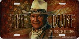 The Duke John Wayne Embossed Metal License (Embossed Car Metal License Plate)
