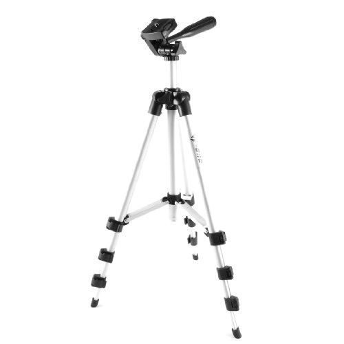 uxcell デジタルカメラトライポッド 3セクション キャリングバッグ 1M高さ ブラック&シルバートーン