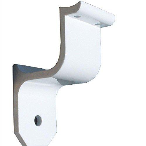EZ Handrail 1.9 in. Aluminum Round ADA Handrail White Wall Bracket (Handrail Aluminum Ez)