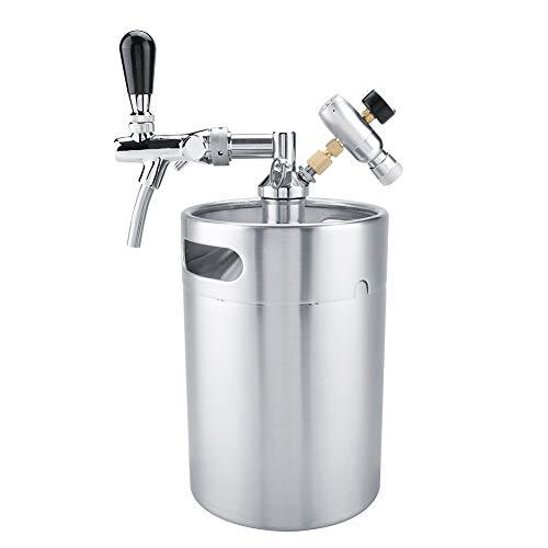 Bier Dispenser, 5L roestvrij staal onder druk draagbare mini bier brouwen vat ambachtelijke wijn maken kit thuis party…