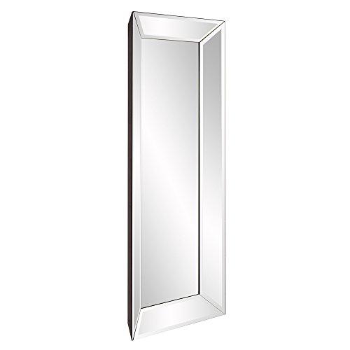 Howard Elliott Vogue Inward Rectangular Hanging Wall Or Vanity Mirror, Mirrored Frame, -