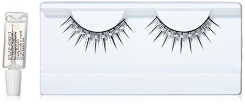 Black & White false Glamour Eyelashes nr. 489 Including free adhesive by Baci Eyelashes