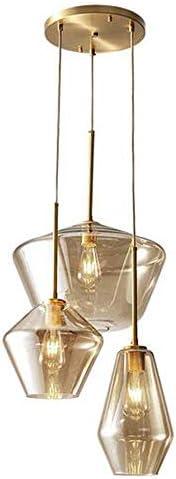 Glass 3 Heads Hanging Pendant Light